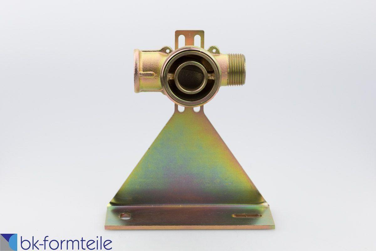 Gaszähleranschlussstück DN40 mit Montageplatte