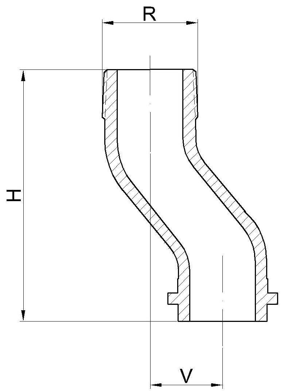 Excenter-Gewindestutzen in Anlehnung an DIN 3376 Teil 1