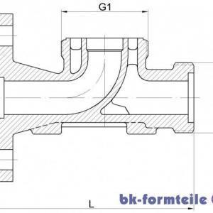 Skizze RAT Flansch AG 1 300x300 - Regleranschlussstück Flansch Aussengewinde DN40