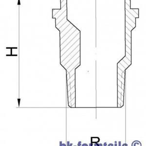 Skizze Reduzier Gewindestutzen DN25 20 300x300 - Reduzier-Gewindestutzen in Anlehnung an DIN 3376 Teil 1