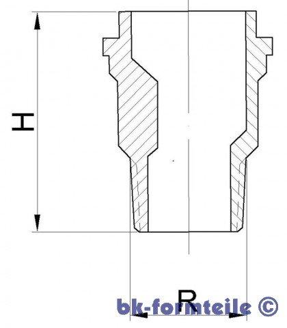 Skizze Reduzier Gewindestutzen DN25 20 - Reduzier-Gewindestutzen in Anlehnung an DIN 3376 Teil 1